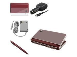 eForCity Stylus Pen + LCD + 2x Charger + Hard Case Cover Compatible With NDSi DSi XL LL