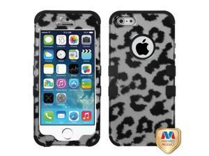 Mybat Black Leopard (2D Silver)/Black TUFF Hybrid Phone Protector Cover for APPLE iPhone 5, iPhone 5s