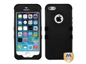 Mybat Rubberized Black/Black TUFF Hybrid Phone Protector Cover for APPLE iPhone 5, iPhone 5s