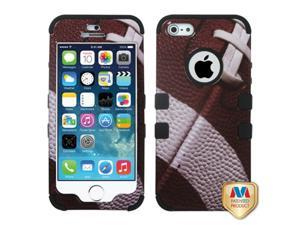 Mybat Football/Black TUFF Hybrid Phone Protector Cover for APPLE iPhone 5, iPhone 5s