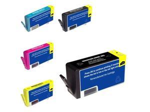 G&G 5-Pack No.564xl New Chip Ink Cartridge For HP PhotoSmart 5510 5514 6510