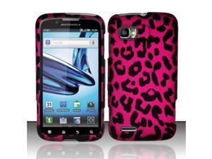 BJ For Motorola Atrix 2 MB865 (AT&T) Rubberized Design Case Cover - Pink Leopard