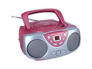 Sylvania SRCD243M PINK Portable CD Radio Boom Box (Pink )