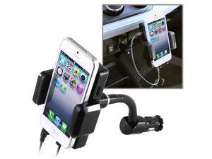 eForCity All-in-1 FM Transmitter w/ 3.5mm Audio Cable compatible with Apple® iPod Touch® 5 / 5th / 5 th / Gen5 / 5 Gen / ...