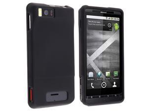 eForCity Motorola Droid Xtreme Mb810 / Droid X Combo Rubberized Black Protective Hard Case Cover + Rapid Car Vehicle + Travel ...