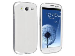 eForCity TPU Rubber Skin Case compatible with Samsung© Galaxy SIII / S3 , Clear