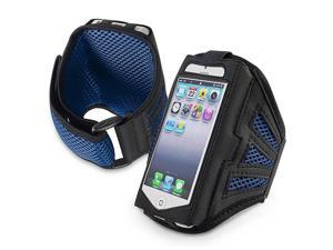 eForCity Sports GYM Arm Band Running Armband Case Pouch For iPhone 5 / 5C / 5S / iPod Touch 5th Gen, Blue / Black