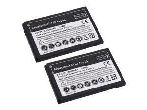 2 Replacement Phone Battery Pack For HTC EVO 4G Sprint