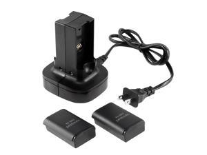 Dual Battery Charging Station for Microsoft xBox 360 - Black