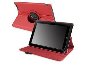 eForCity 360-degree Swivel Leather Case Compatible with Barnes & Noble Nook HD+, Red