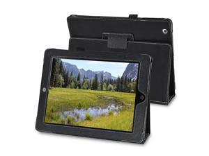Black Embossed Leather Case w/ Stand Compatible With Apple iPad 2 / iPad 3 / iPad with Retina display (iPad 4)