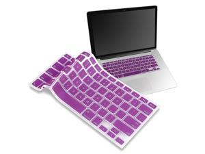 eForCity Silicone Keyboard Skin Shield Compatible With Apple® Macbook Pro, Purple