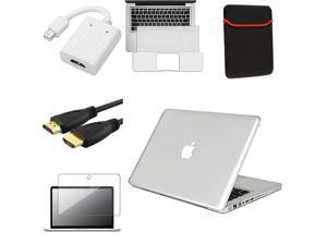 "eForCity Clear Crystal Case + 13.3"" Keyboard Cover + HDMI + Converter + 13.3"" Guard + GIFT For Apple® Macbook Pro 13"