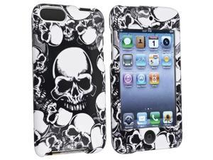 Snap-on Case compatible with Apple iPod Touch 2nd / 3rd Gen, White Skull