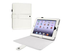 eForCity Leather Case w/ Kick Stand Compatible With Apple iPad, White