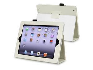 Leather Case w/ Stand Compatible with Apple iPad 2/ipad 4 / ipad with Retina display, White
