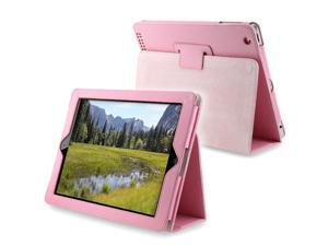 Leather Case w/ Stand Compatible With Apple iPad 2/ipad 4 / ipad with Retina display, Light Pink