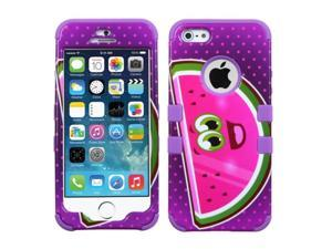 MYBAT Watermelon/Electric Purple TUFF Hybrid Phone Protector Cover compatible with Apple iPhone 5/5S