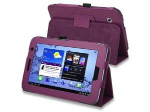 eForCity Leather Case with Stand compatible with Samsung Galaxy Tab 2 7.0-inch P3100/ P3110/ P3113, Purple