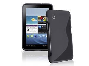 "eForCity TPU Rubber Case for Samsung Galaxy Tab 2 P3100 / P6200 / 7.0"" (Black S Shape)"