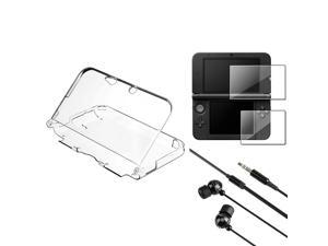 eForCity Black Universal 3.5mm In-Ear Stereo Headset w/Ball-Head Shape + 2-LCD Kit Reusable Screen Protector + Clear Crystal ...