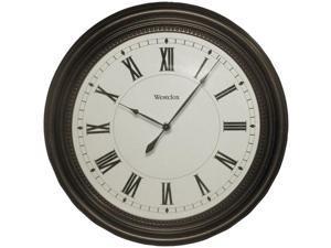 "WESTCLOX 32223 16"" Round Bronze Oil Rub Case Finish Clock"