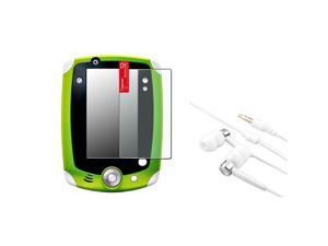 eForCity Anti-Glare Screen Protector+Silver Headset Compatible With LeapFrog Leappad 1/2 Explorer