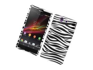 Sony Xperia Z C6603 Case, eForCity Zebra Hard Snap-in Case Cover Compatible With Sony Xperia Z C6603, Black/White