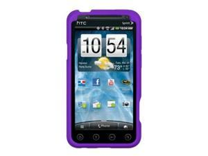 HTC EVO 3D Gel Skin Case Cover - Purple