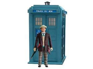 "Doctor Who: 5"" Action Figure - 7th Doctor (Brown Jkt) w/Classic TARDIS (Lights/Sounds)"