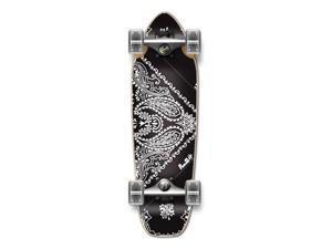 """Complete Longboard Mini Cruiser/ Banana Cruiser Skateboard 27"""" X 8"""" - Bandana BLACK"""