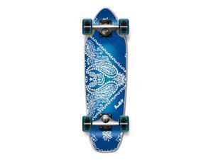"""Complete Longboard Mini Cruiser/ Banana Cruiser Skateboard 27"""" X 8"""" - Bandana BLUE"""