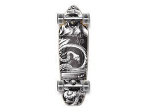 "Complete Longboard Mini Cruiser/ Banana Cruiser Skateboard 27"" X 8"" - NATURAL BLIND JUSTIC"