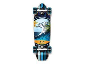 """Complete Longboard Mini Cruiser/ Banana Cruiser Skateboard 27"""" X 8"""" - WAVE"""