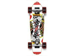 "Complete Graphic Longboard MiCro Cruiser Skateboard 25"" X 7"" - KING OF HEARTS"