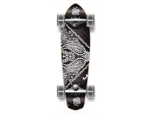 "Complete Graphic Longboard MiCro Cruiser Skateboard 25"" X 7"" - BANDANA BLACK"