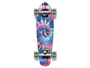 """Complete Graphic Longboard MiCro Cruiser Skateboard 25"""" X 7"""" - TIEDYE LOST"""