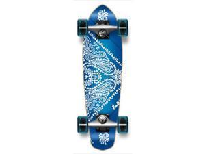 "Complete Graphic Longboard MiCro Cruiser Skateboard 25"" X 7"" - BANDANA BLUE"