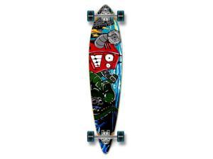 """Complete Graphic Longboard PINTAIL Skateboard 40"""" X 9"""" - Robot"""