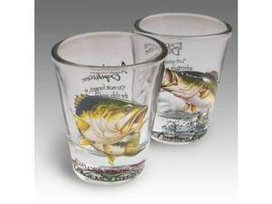 American Expedition Set of 2 Shot Glasses - Bass