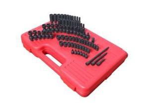 "74 Piece 1/4"" Drive Master SAE and Metric Impact Socket Set"