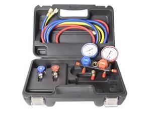 R134a Aluminum Block Manifold Gauge Set with Manual Couplers