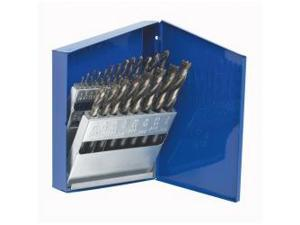 21 Piece Turbomax High Speed Steel Fractional Drill Bit Set
