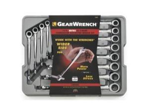 12 Piece Metric X-Beam Ratcheting Combination Wrench Set