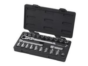 "23 Piece 3/8"" Drive GearRatchet Set with Locking Handle"