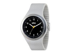 Braun Analog Sports Watch Black Fase Light Grey Silicone Band