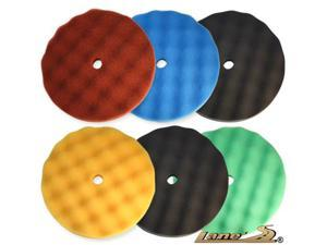 "8"" Velcro Waffle Foam Buffing Pad Kit"