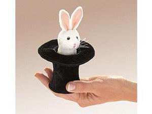 Folkmanis Puppet Mini Rabbit In Hat