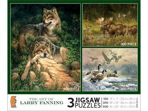 3 in 1, 100/300/500 Piece Art of Larry Fanning multi pak
