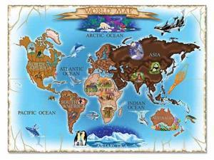 0500 pc Map of the World Cardboard Jigsaw